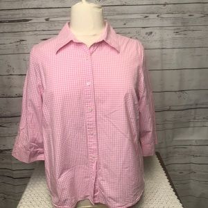 IZOD pink and white top.     LL294